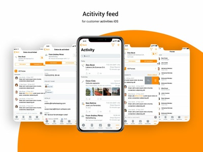 Activity Feed tab customer uidesign comments iosx ios fm feed activity