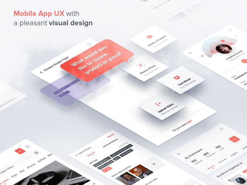 Mobile App UX with a Pleasant Visual Design ui  ux visual design mobile app