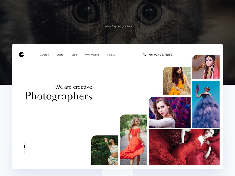 Free Photographer Portfolio ui-ux design photography free designs sketch app visual design responsive design portfolio mobile web