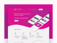 Affinibox - Landing page