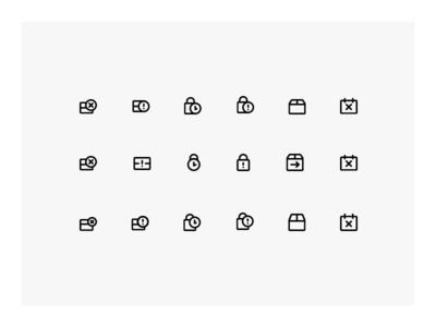16px grid icons study