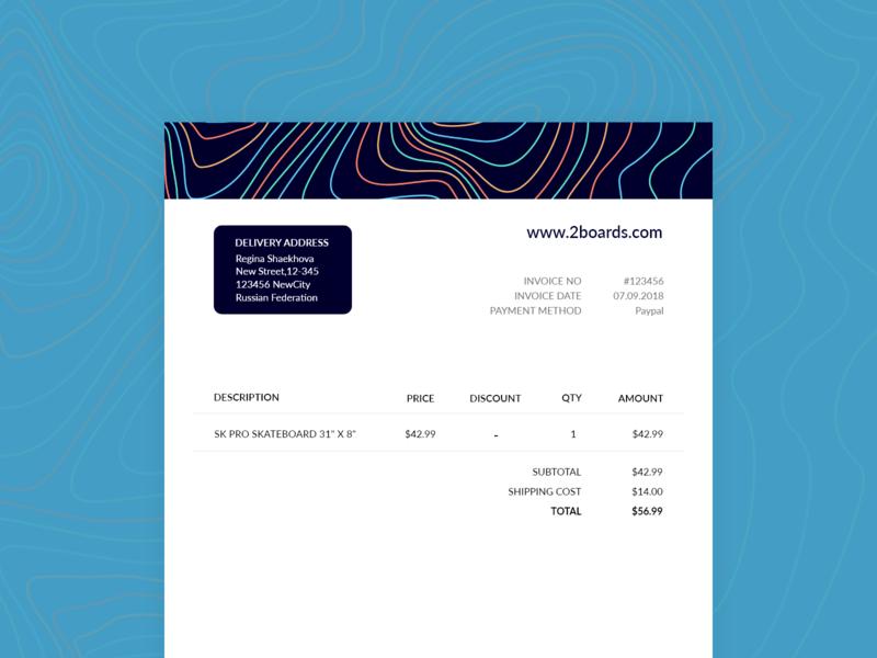 Daily UI #046 invoice design invoice 046 design adobe xd dailyui