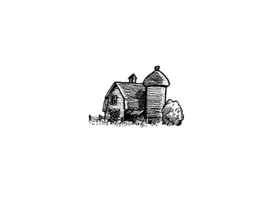 Farm Icon Spot Illustration