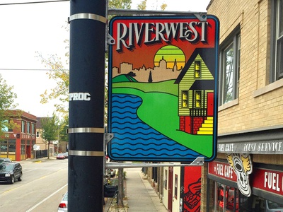 Riverwest Neighborhood Sign