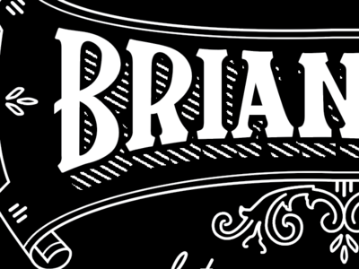 Brian business card detail