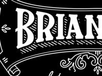 Brian business card detail