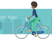 illustration - ridin' bike