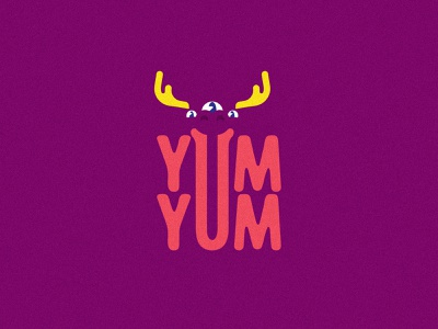 YumYum - Semi-sweet treats for kids - Grrrape kids candy sweet sweets moose grape icon typography monster branding vector design brand mark logo illustration