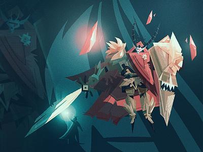 Fantasy concept art - Demon Lord art lord king warrior knight armor dnd fantasy demon icon monster vector design brand mark illustration