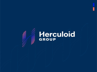 Herculoid Investment Group elevate ripple pulse investing typography branding vector design brand mark logo illustration