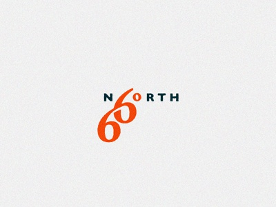 66 Degrees North logo  - Icelandic Outdoor wear fashion clothing outdoor typography type compass degrees blue branding red vector design brand mark logo illustration