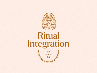 Ritual Integration – Somatic Therapy integration ritual nude body mind therapy brain woman vitruvian typography branding vector design brand mark logo illustration