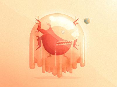World Eater gel alien illustration color eater world