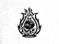 Inktober20 Breakable (Phoenix chick+egg+fire)