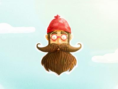 No Shave November Desktop Calendar typography design mark illustration beard type november shave no