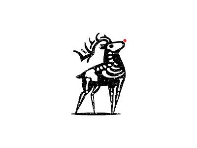 Rudolph reindeer rudolph deer design brand mark logo illustration