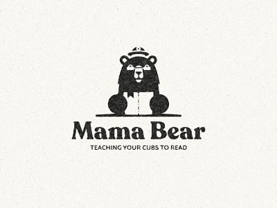 Mama Bear - Tutoring service animal academic school education read book bear branding vector design brand mark logo illustration