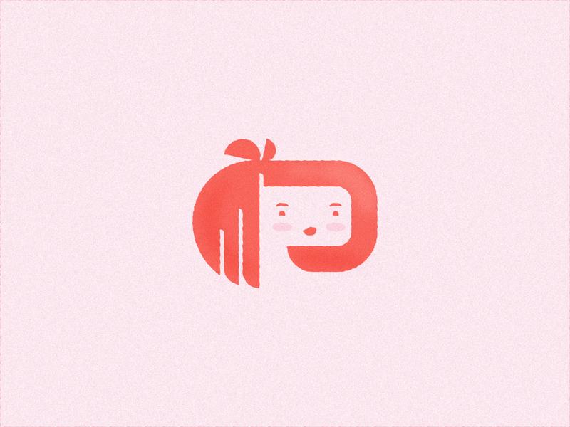 36 days of type: P cute pretty lady woman p branding typography type vector brand mark logo illustration