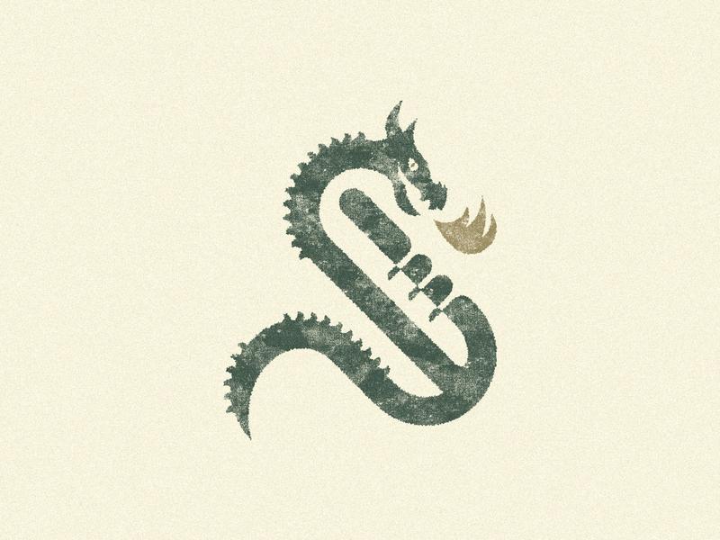 36 days of type: S dragon s typography branding design brand logo illustration