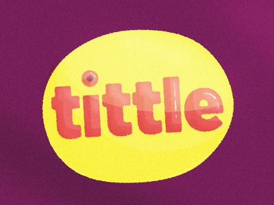 Paying tribute to the tittle tittle branding typography brand mark logo illustration