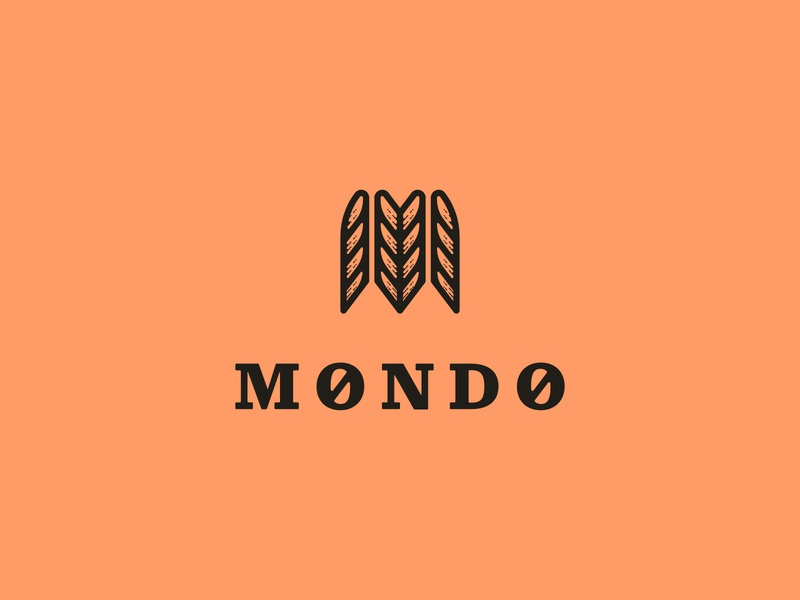 Mondo Archery Supplier archer archery nature feather arrow bow m icon branding design brand mark logo illustration