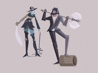 DND characters - Warring ship captains