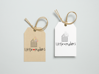 Little Maker logo option 1 color logo design children