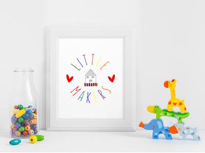 Little Maker logo option 2 colorful children kids logo design