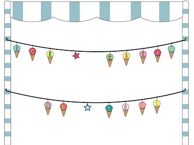 Be Cool ! cool pastel illustration illustrator ice cream