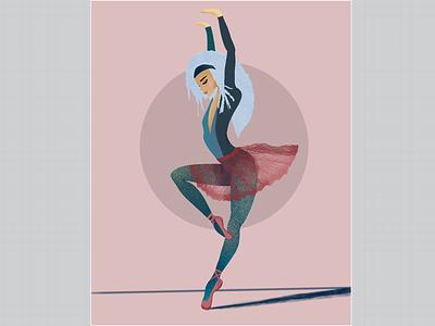 Ballerina. Movement #1. pink movement ballerina procreate illustration