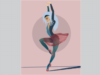 Ballerina. Movement #1. pink movement ballerina procreate illustration
