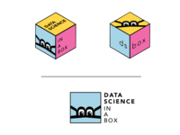 """data science in a box"" logo"