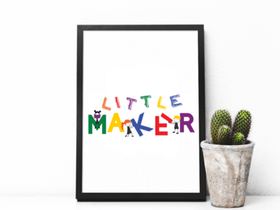 Little Maker final logo little kids illustrator colorful logo design