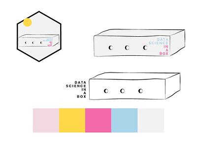 """data science in a box"" logo option 2 vector illustrator petit prince logo design logo"
