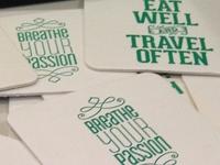 Letterpressed Coasters