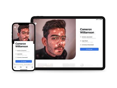 Facebook Profile Redesign user mobile app tablet app app design native app ios ipad iphone mobile ux social network social social media facebook profile profile facebook redesign ui product design