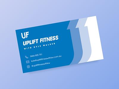 Uplift Fitness Business Card logo design business business card print design print business card design branding strength training fitness