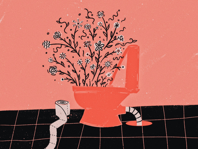 room for growth! texture procreate illustration