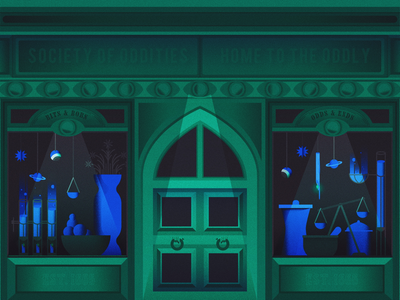 society of oddities texture vector illustration