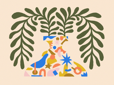 JOY / 02 procreate abstract color illustration