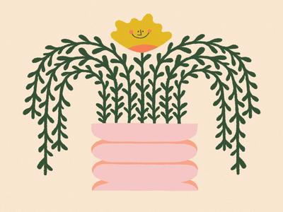 JOY / 06 vase flower design color procreate illustration
