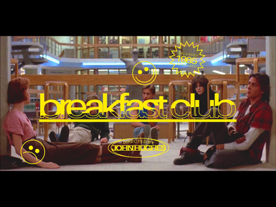 Silver Screen Type - The Breakfast Club graphic design movies type design typography
