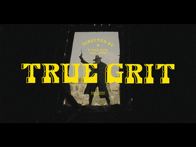True Grit Title Screen Redesign movie art movie poster texture custom lettering true grit movies movie custom type logo design branding typography
