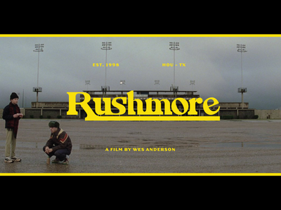 Rushmore Title Screen Redesign wes anderson rushmore movie movie poster movie art custom typography custom type type design design graphic design typography