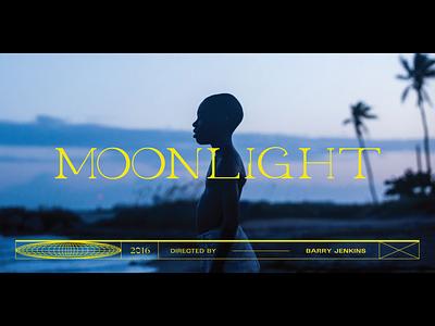 Moonlight Title Screen Redesign custom moonlight logo graphic design graphic custom type type design typogaphy movie movie poster movie art