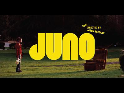 Juno Title Screen Redesign type designer movie poster movie art movie type design custom type graphic design texture design branding typography