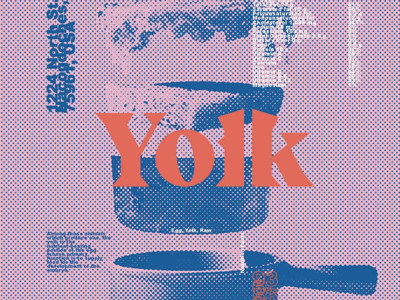 Yolk Branding restaurant logotype typography color palette branding