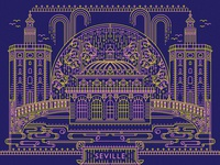 """""""From Europe With Love"""" Postcard Illustration - Seville"""