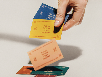 Mayfair Cleaners Hanger Tags art direction photography branding