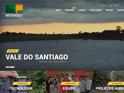 MidiaGEO institutional nature uix ui user interface metro environmental